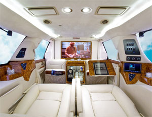 ... Area Featuring Custom Panels, A Raised Roof, A Full Divider, Premium  Maybach Style Captainu0027s Chairs And Only The Finest Interior Trim Materials.